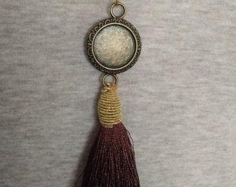 Brown tassel necklace