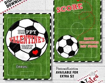 Soccer Valentines, Soccer Valentine Cards, Kids Soccer Valentines, Sport  Valentines, Soccer Cards