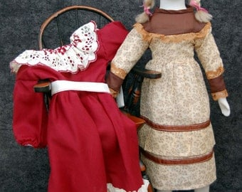 Large Walda Doll, Parian Doll, Bisque Doll, Collectible Doll, Vintage Porcelain Doll, Display Ready, Includes 2 outfits