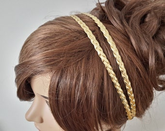 Headbands Women Headband Bridal Leather Braided Double