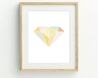 Geometric wall art, instant download printable art, digital print, digital download, minimalist print, modern wall art, contemporary art.