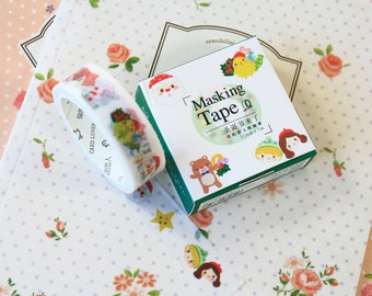 01 Cute Christmas Cardlover Cartoon washi masking tape