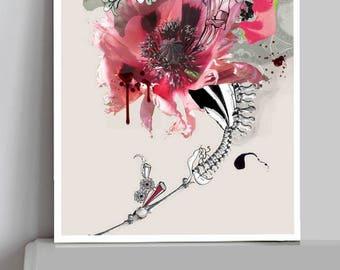 large flower - fine art print