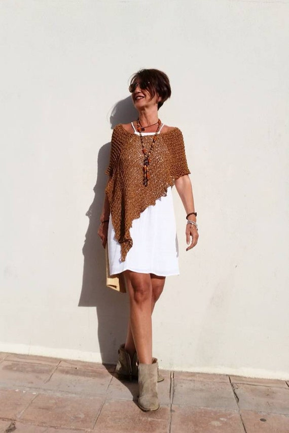 Loose Knit Poncho Summer Boho Chic Clothing Women