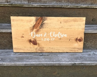 Personalized wood guestbook alternative - wooden guestbook - housewarming gift - reception decor