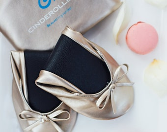 AB Cinderollies Foldable Flats,Ballet Flats,foldable ballet flats,shoes,Wedding Flats,wedding shoes,flat wedding shoes,Bridal Flats,slippers