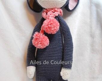 Lalylala Mouse, crochet mouse doll