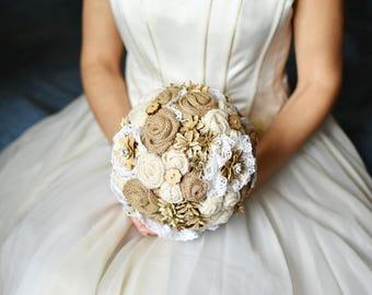 Rustic Bride Bouquet Etsy