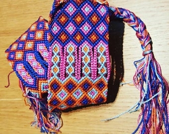 Belt made of colorful macrame knots.