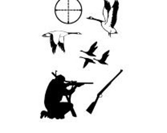 Duck Hunting Silhouette  SVG Cutting Digital File Only