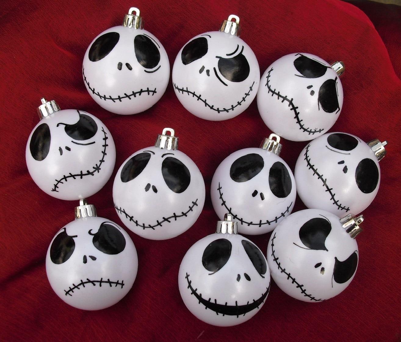 Set Of 9 Jack Skellington Ornaments By Dressingerroomcorner