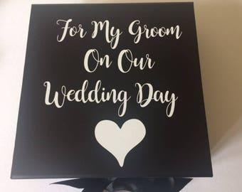 Personalised Grooms Keepsake Box, Grooms Wedding Box, Groom To Be Gift, Wedding Keepsake Box, Wedding Box For Him, Groom Box,