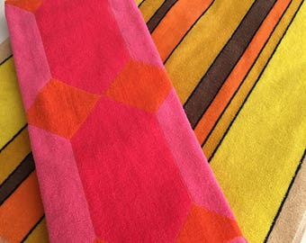 Orange and Pink Vintage Towels