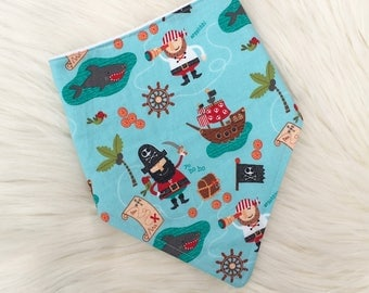 Pirate Dribble Bib, Boys Bib, Baby Bib, Toddler Bib, Baby Gift, Baby Shower, Christmas Stocking Filler, Handmade in the UK
