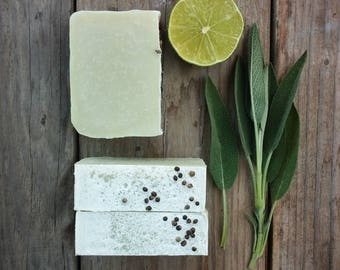 Citrus Sage Soap - All Natural Soap, Cold Process Soap, Handmade Soap, Vegan Soap,  Hemp Soap, Citrus Soap, Palm Free Soap