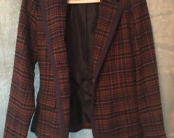 Plaid Fitted Blazer
