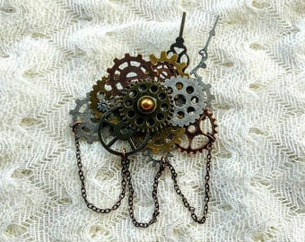 Chained Steampunk Brooch