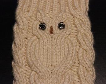 Summer SALE Owl in handknitting Hand Knit Leg Warmers Boot Cuffs Stylish gift Handmade Vegan Yarn by IrinaKdesigns