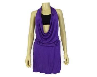 Yoga Cover Up Dress- Halter Mini Dress- One Size- HDPUR