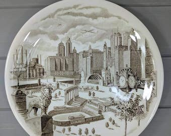 Vintage Marshall Field & Company Chicago Plate by Johnson Bros England, Historical Chicago Sights Plate, Wall Decor and Unique Serving Piece