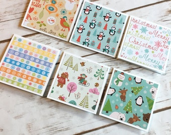 Set of 6 mini note cards with envelopes / gift giving / mini note cards / mini cards / mini envelopes / cards set with envelope