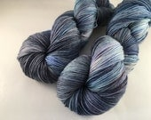 Hand dyed yarn OZ sock -'Serious business'