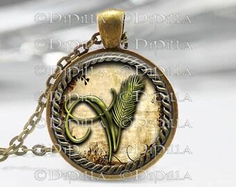 Vegan Symbol Art Pendant for Vegan Pride with Chain