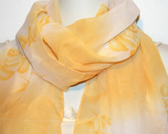 Womens Scarf, Yellow Scarf, Chiffon Scarf, Voile Scarf, Cotton Scarf, Fashion Scarf, Shawl, Womans Scarf