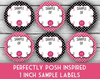 """PERFECTLY POSH Inspired 1"""" SAMPLE Labels - Direct Sales Labels, Business Labels, Business Stationery, Professional Printing"""
