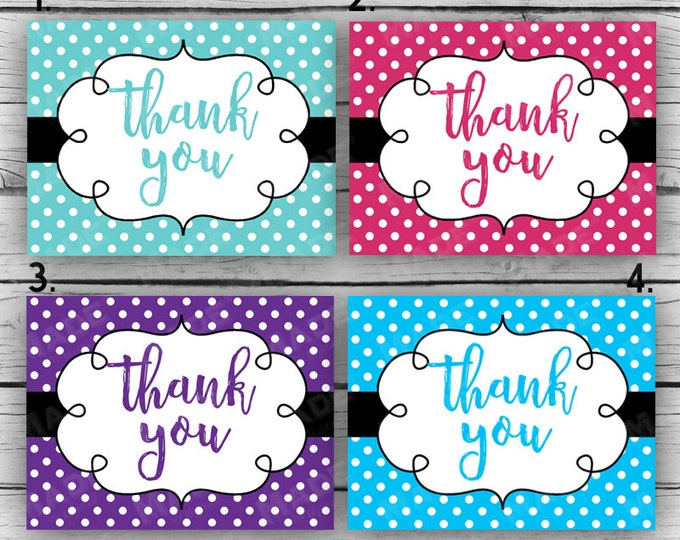 Printed DOTS THANK YOU Note Card Set - Thank You Cards, Motivational Cards, Printed Thank You Cards, Stationery, Business, Direct Sales