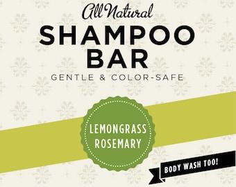 Lemongrass Rosemary Organic Shampoo Bar