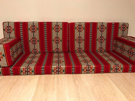 2 pillow arabic/middle eastern floor seating