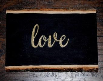 Love on wood decor