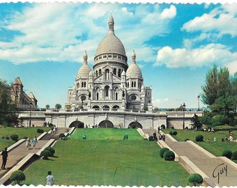 Basilique du Sacre Coeur de Montmartre, Paris, France, Vintage 1980 Unused Continental Color Postcard