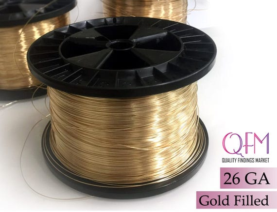 1 meter 328 feet yellow gold filled wire thickness 26 ga 04 1 meter 328 feet yellow gold filled wire thickness 26 ga 04mm also available in bulk spools gold filled wire 26 gauge from qfmarket on etsy greentooth Image collections