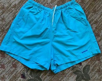 VTG Patagonia Made In USA Teal Aqua Shorts