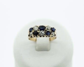 A Statement Victorian Sapphire And Diamond Ring   SKU160