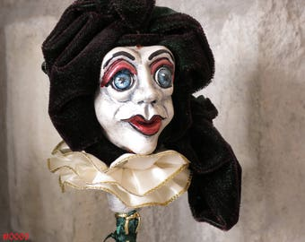 Renaissance Court Jester Puppet - A True Work of Art