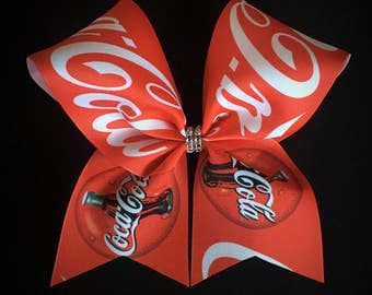 Cola soda red cheer bow