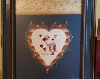 Shepard's Bush Patriotic Pattern - complete and framed
