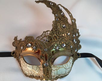Gold Venetian Mask, Masquerade Mask Lace, Masquerade Mask, Masquerade Ball Masks, Masquerade Masks Women, Halloween Costume Mask Party Dress