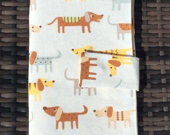 Dogs Double pointed needle case, knitting needle case,craft bag, knitting