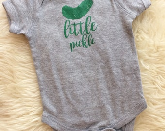 Pickle Baby Little Pickle Outfit Baby Gift Christmas Gift Baby Funny Baby clothes Unique gift printed shirt for baby Mole In The Hole 6Mo