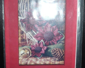 The Sunflower Seed Co Poinsettia Pins, Napkin Rings And Candle Decor Pattern No Sewing Needed