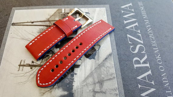 Handmade watch strap! Italian cow leather
