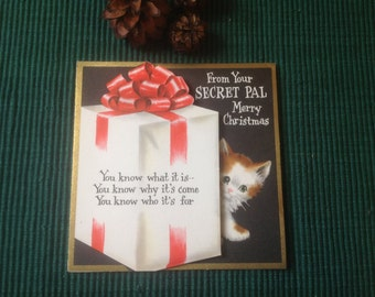 Vintage Christmas card ( unused)
