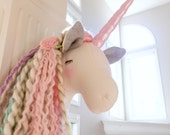 Unicorn Head  pastel rainbow unicorn faux taxidermy unicorn gift unicorn room unicorn wall mount animal head WILLOW