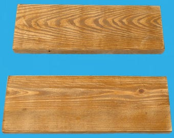 """reclaimed wood floating shelf 20"""" by 7"""" by 1-1/2"""" pecan stain distressed-618-20"""