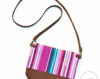 Boho crossbody purse /plum