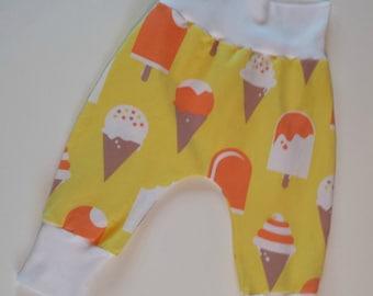 Girls, Boys Ice Cream harem pants 12 - 18 months Organic cotton jersey